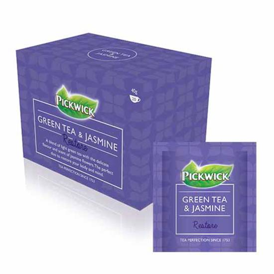 Pickwick Green Tea & Jasmine Tea Envelopes x 20
