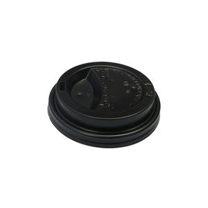 Enjoy Your Coffee & Esp G Black 8oz Travel Lids x 50